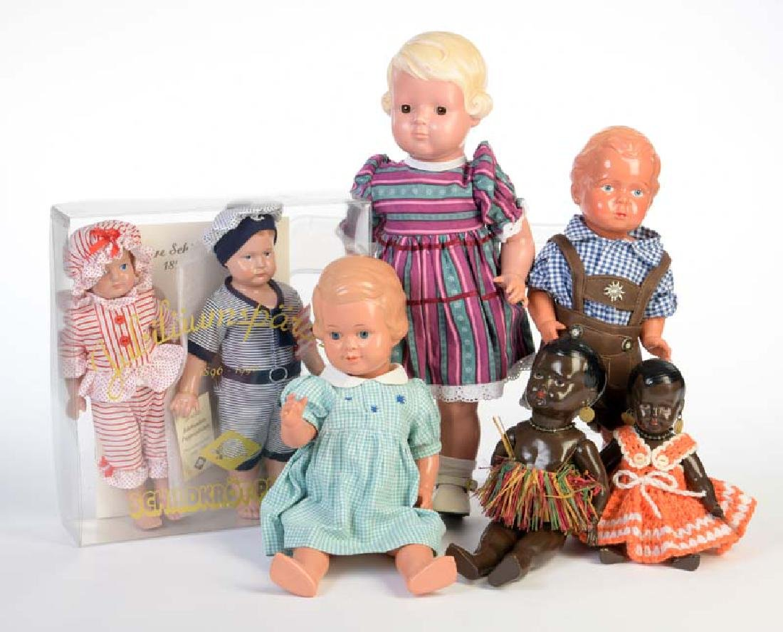 Schildkroet u.a., 7 Puppen