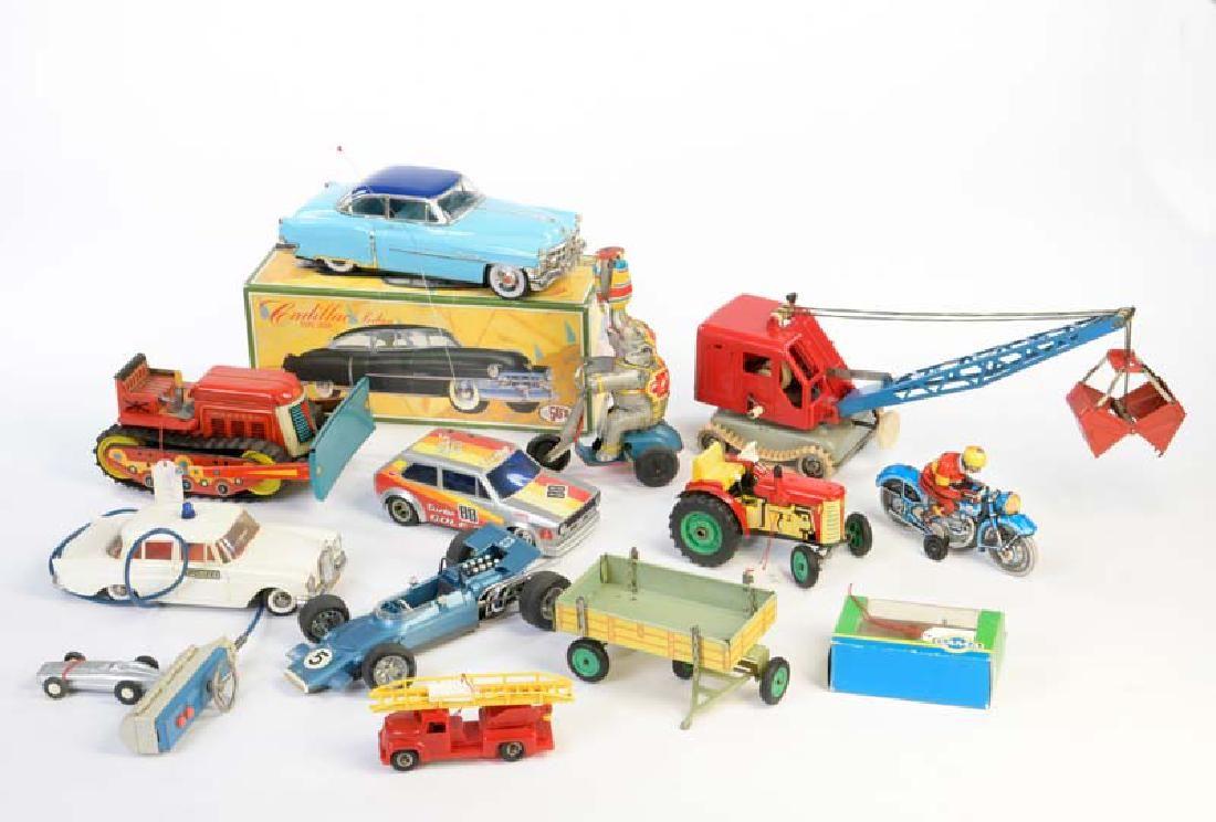Gama, Schuco u.a., Konvolut Spielzeug