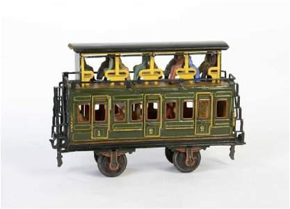 Marklin, Doppelstock Eisenbahnwagen mit Figuren Kat.