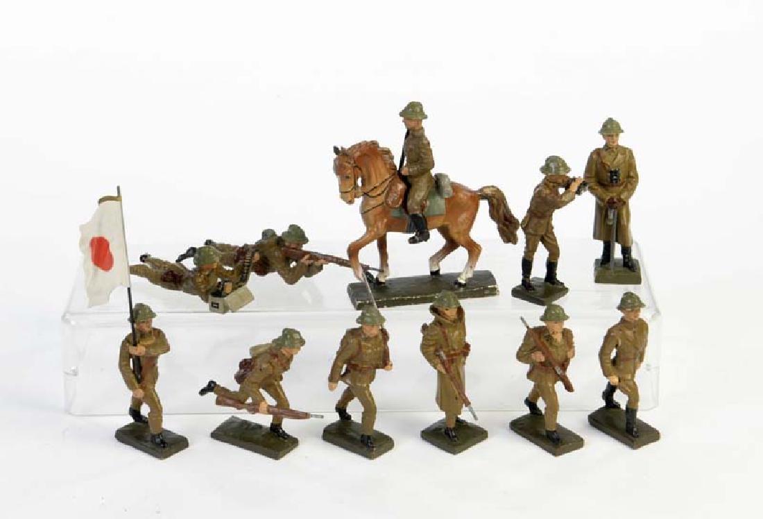 Lineol, 11 Japanische Soldaten