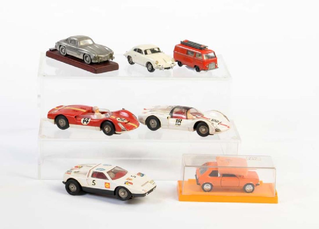 Schuco, Marklin u.a., Konvolut Modellautos + Slot Cars