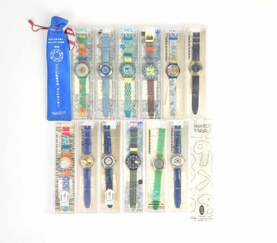 14x Swatch (6x Automatic, 6x Scuba + 2 Sondermodelle)