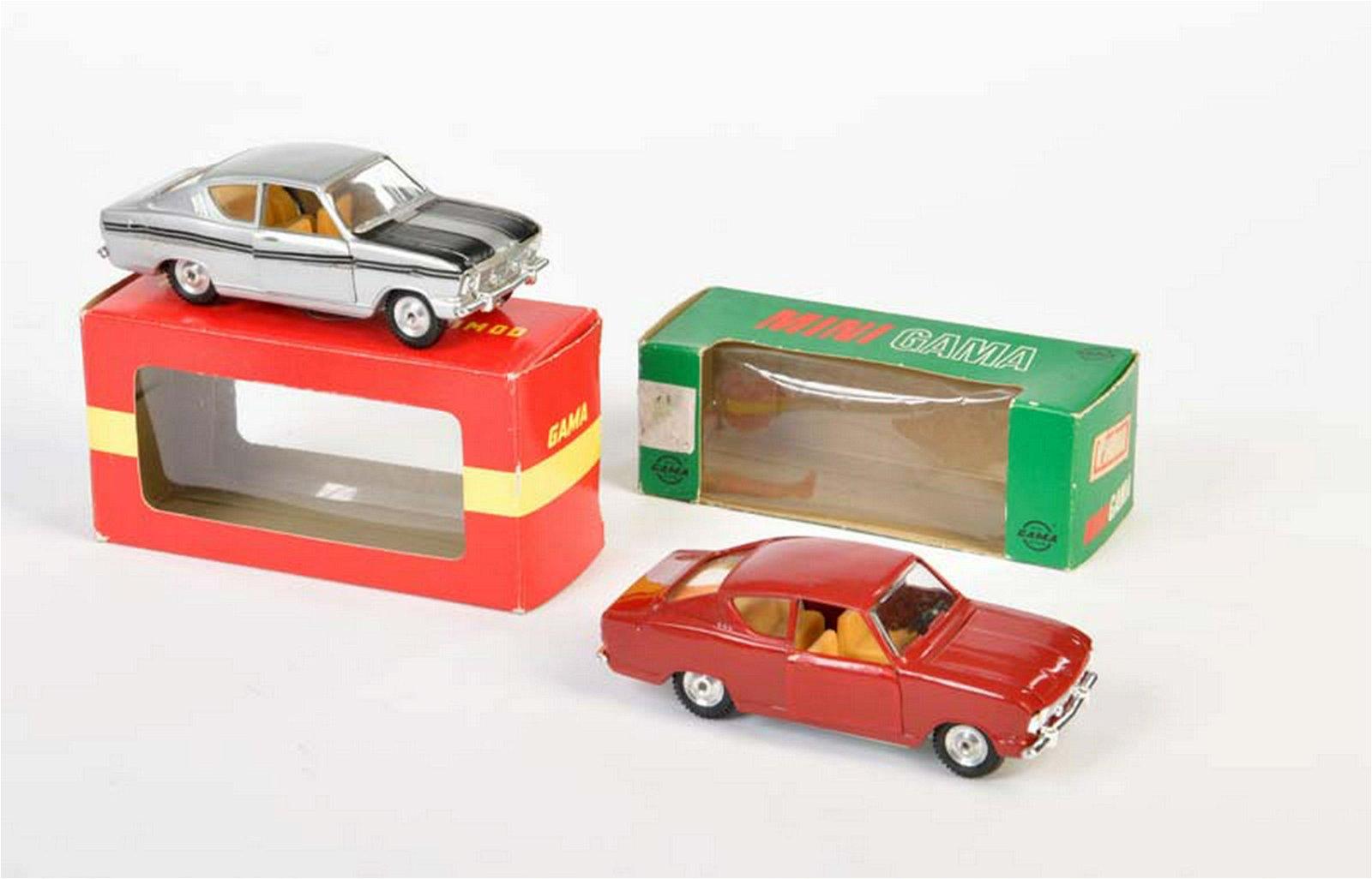 Gama, 2x Opel Kadett Coupe