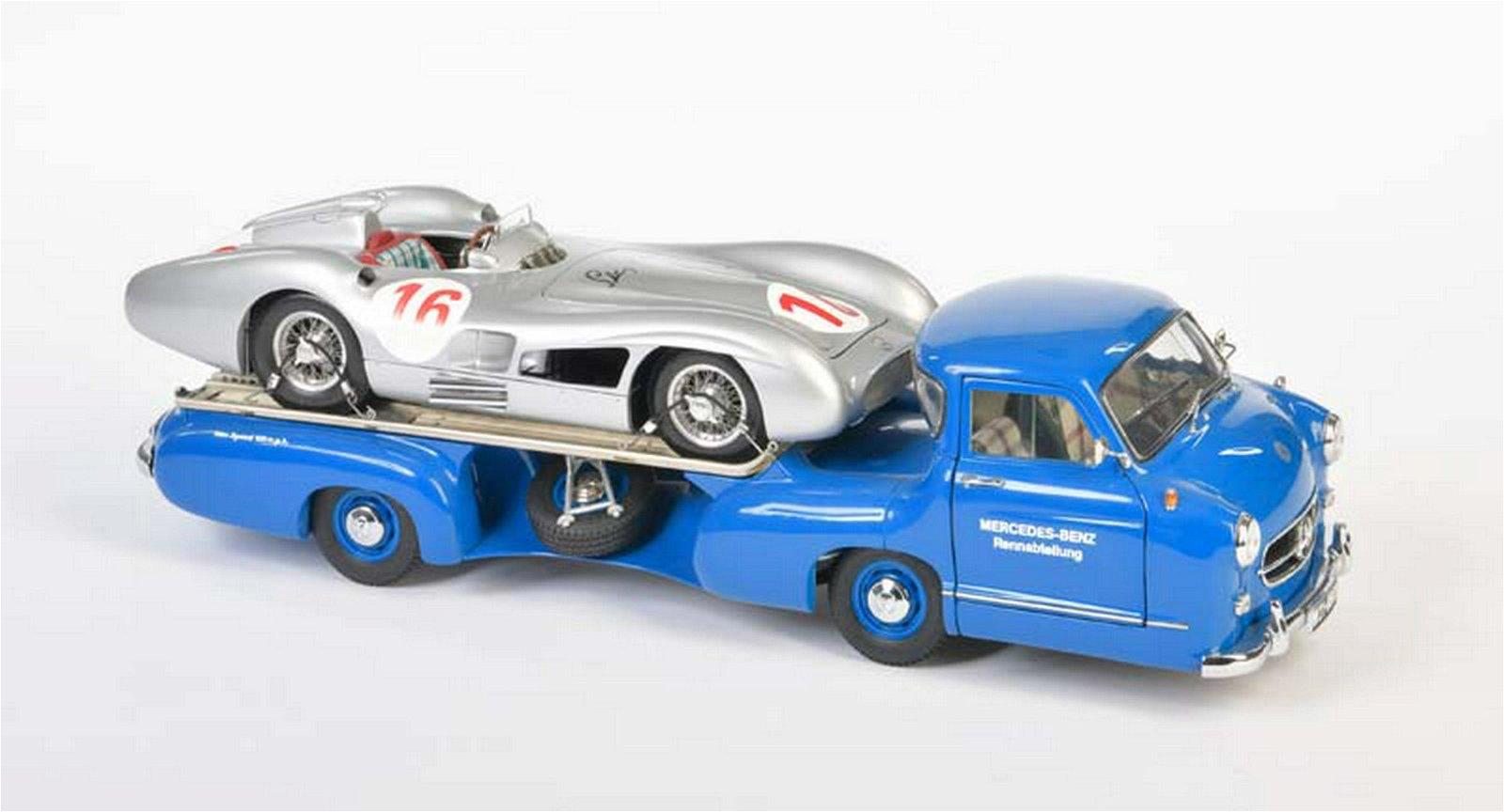 CMC, Mercedes Renntransporter mit Silberpfeil (signiert