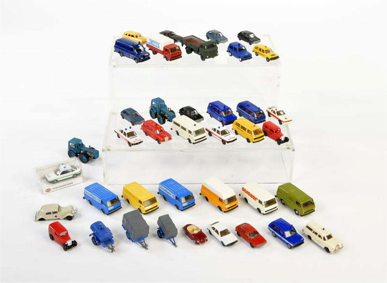 Herpa, Brekina, Rocco: Konvolut Modellautos, meist