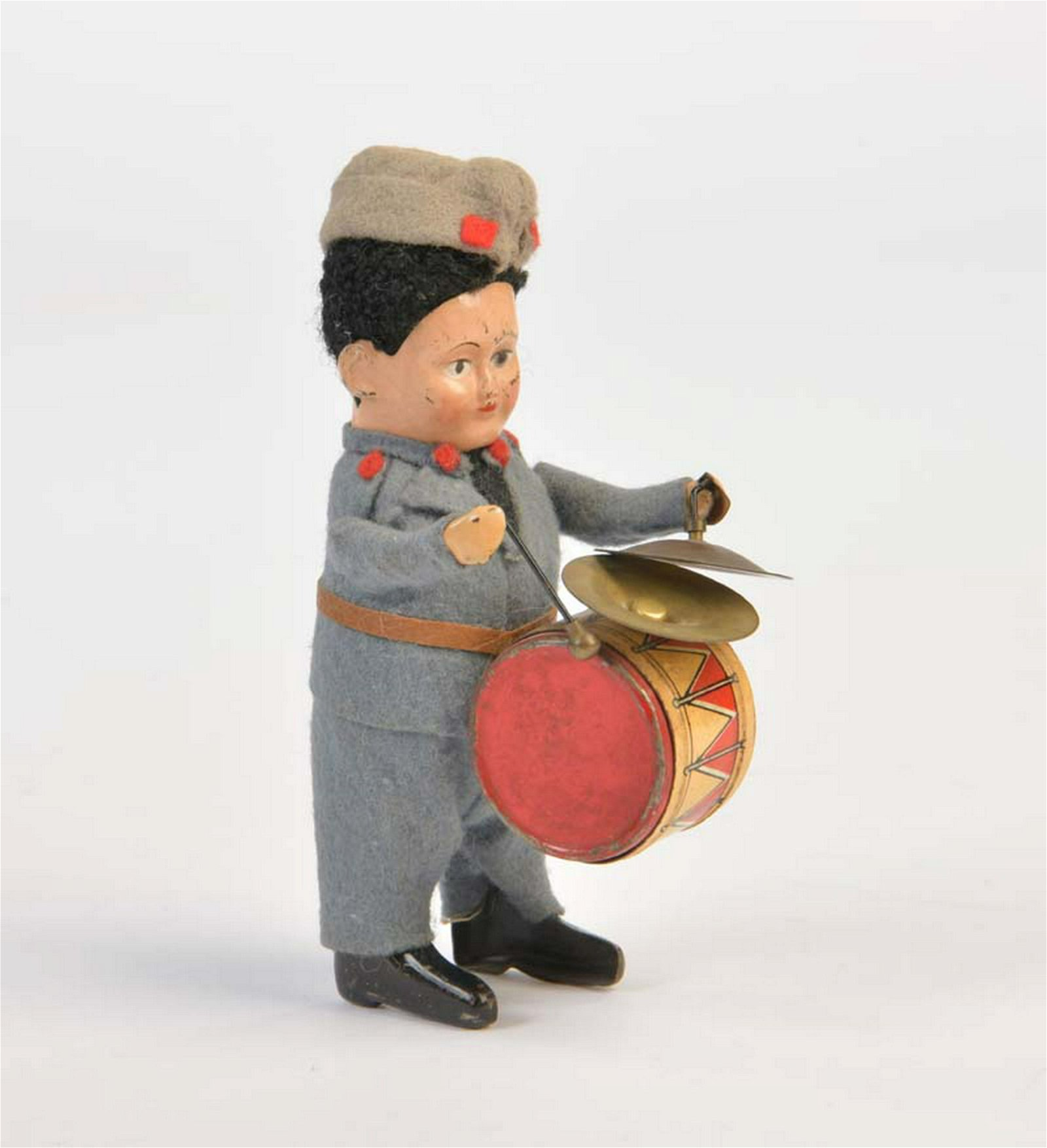 Schuco, Schweizer Soldat mit Trommel + Becken