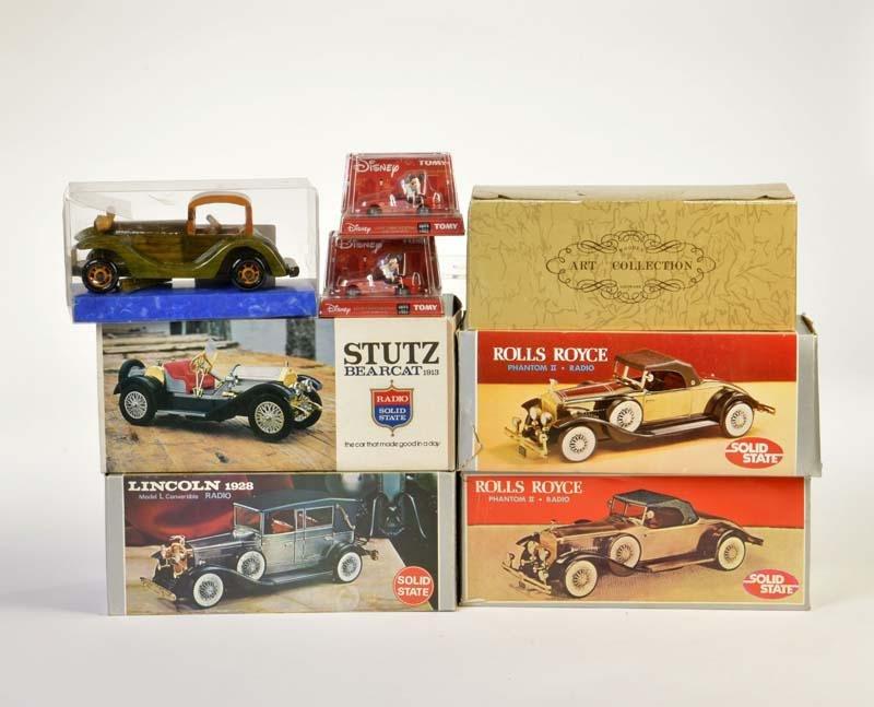 Tomy, Solid State, Konvolut Auto Modelle u.a. Disney,