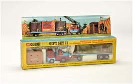 Corgi Toys, Gift  Set 21 Chipperfields Circus Crane +