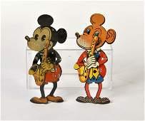Saalheimer & Strauss, 2 Micky Maus Drueckspiel Figuren