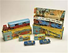 Corgi Toys, Autotransporter, Pferdetransporte + 2x Ford