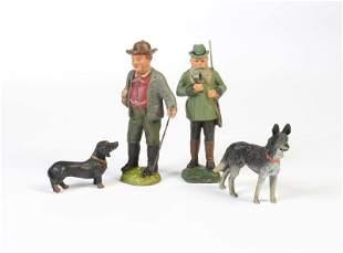 Pfeiffer, Wanderer, Förster + 2 Hunde