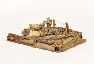 Elastolin, Stellung mit 2 Soldaten