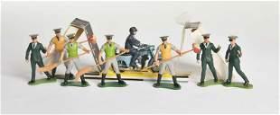 Britains, Polizeimotorrad + 7 Zoomitarbeiter