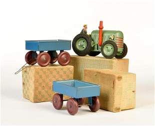 Traktor + 2 Anhaenger
