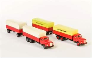 Tekno, 2x Scania Vabis LKW + Anhaenger