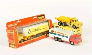 """Solido, Renault LKW, Camion """"Bernard"""" + Berliet LKW"""