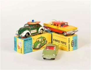 Corgi Toys, Renault Floride, VW Kaefer Police +