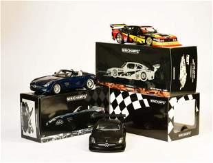 Minichamps, 2x Mercedes Benz SLS AMG + Ford Capri DTM