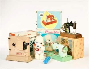 Casige u.a., 2 Kindernaehmaschinen, Pudel + Projektor