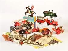 Schuco, Tucher & Walther u.a., Konvolut Spielzeug + 2