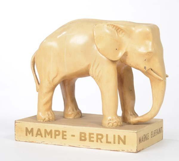 "Advertising Display ""Elephant-Mampe Berlin"