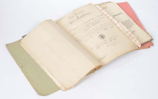 3 personal Files from 1895: Military Certificate +