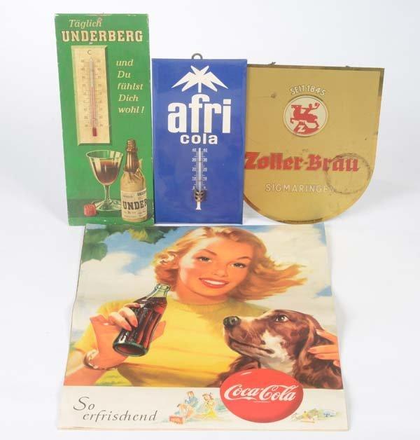 Bundle mixed Advertising Goods: 4x Coca Cola(50s)