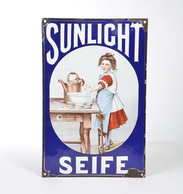 Emailleschild Sunlicht Seife