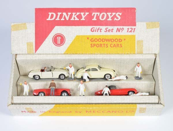 """Dinky Toys, Geschenkpackung """"Goodswoods Sports Cars"""""""