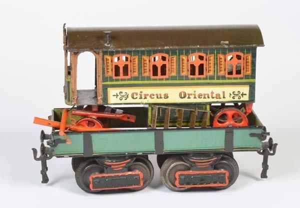 """Marklin, Plattformwagen mit """"Circus Oriental"""" Wagen"""