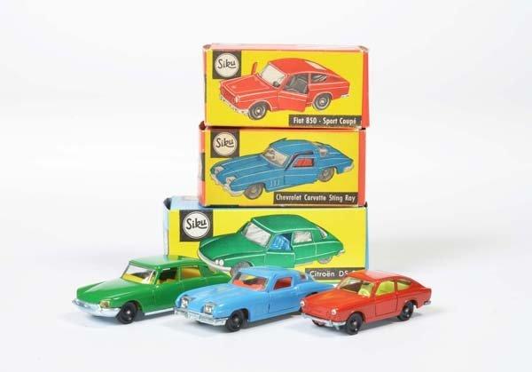 Siku, Fiat 850 Sport Coupe V 301, Chevrolet Corvette