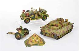Lineol Nachbau Kuebelwagen Panzer u Geschuetz