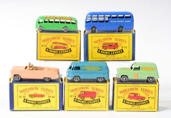 Matchbox, 5 Modellfahrzeuge