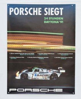 4 Verschiedene Porsche Plakate