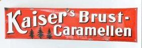 """Emailleschild """"kaiser's Brust Caramellen"""""""
