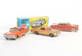 Corgi Toys + Dinky Toys, 3 Autos