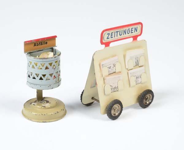 Kibri ?, Zeitungswagen + Abfalleimer