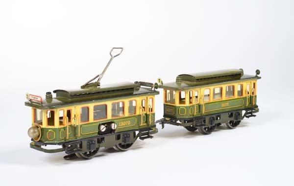Marklin, Strassenbahn mit Anhaenger, 20er Jahre