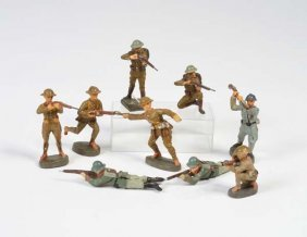 Elastolin/lineol, 9 Soldaten