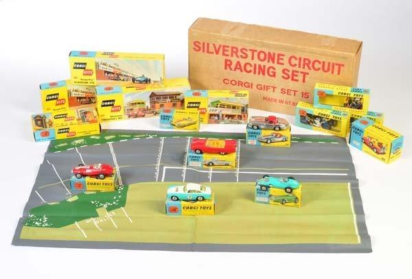 Corgi Toys, GS 15 Silverstone Set (komplett)