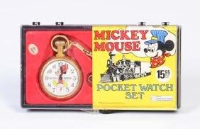 Bradley, Mickey Mouse Taschenuhr 60/70er Jahre