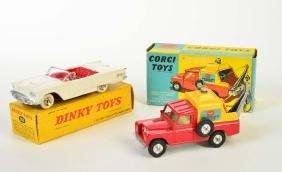 Corgi + Dinky Toys, Thunderbird + Breakdown Truck,