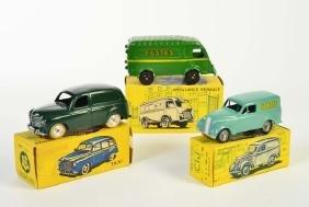 CIJ, 2 Postwagen + Renault Colorale