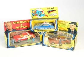 Corgi Toys, 260 Superman Police Car, 290 Kojak's Buick