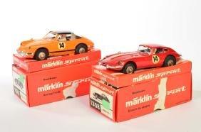 Marklin Sprint, Jaguar E Type 1308 + Porsche 911 Targa