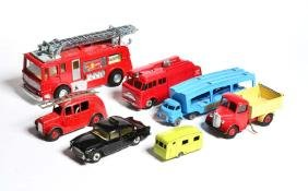 Dinky Toys/Matchbox, LKW, Autotransporter, Feuerwehr,