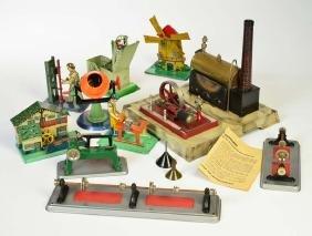 Fleischmann u.a., Dampfmaschine + 7 Antriebsmodelle +
