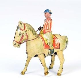 Blomer & Schueler, Jockey auf  Pferd