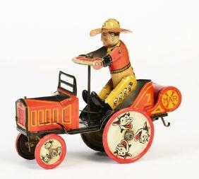 Marx, Cowboy auf Traktor