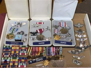Colonel Richard Dick Cooper Lot of military medals